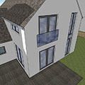 kitchen, living and bedroom extensiojn doubling size of existing cottage