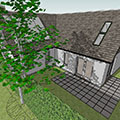 new build two bedroom house with permitted development scope to become five bedroom house